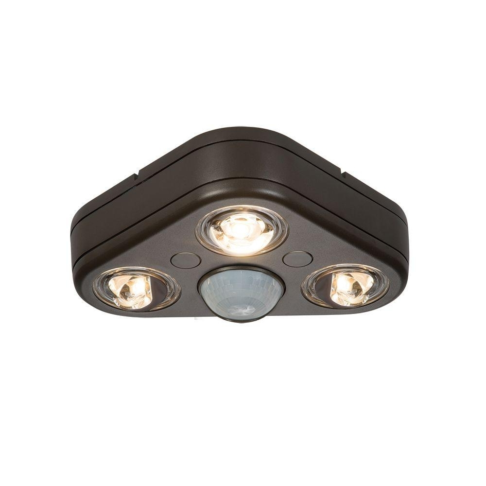 Lithonia Lighting Wall Mount Outdoor White Led Floodlight With Motion Sensor For Famous All Pro Revolve 270 Degree White Triple Head Motion Activated (View 11 of 20)