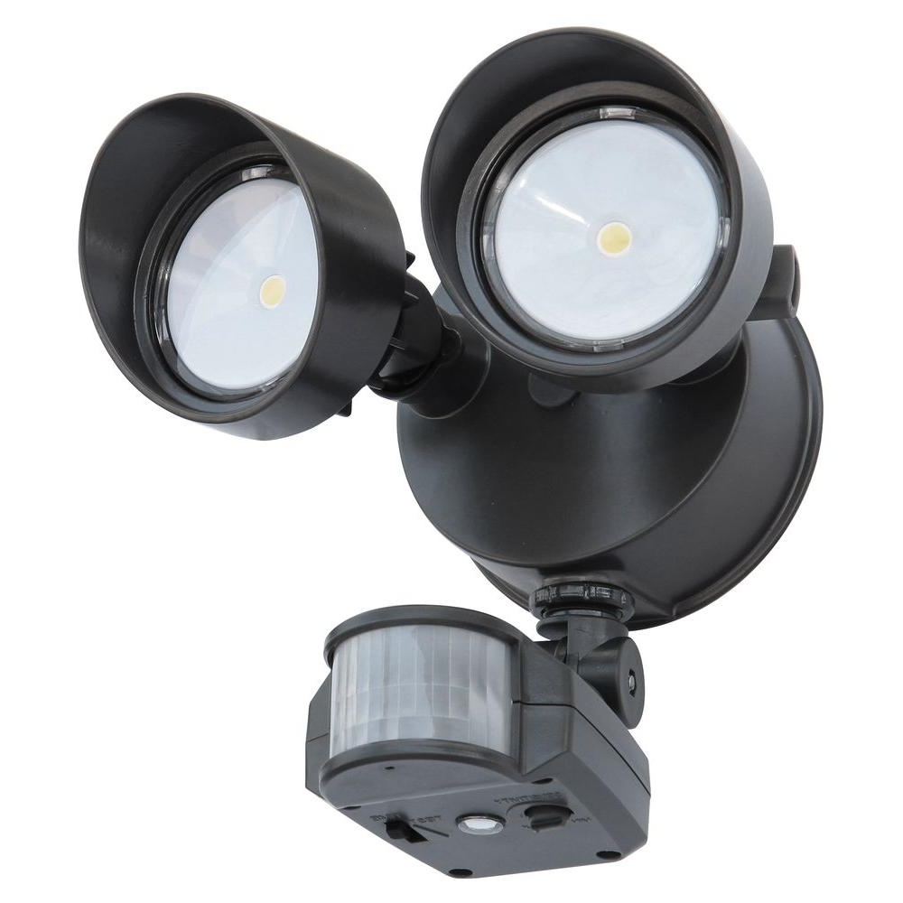 Lithonia Lighting Wall Mount Outdoor White Led Floodlight With Motion Sensor Throughout Newest Lithonia Lighting 180 Degree Bronze Motion Sensing Outdoor Led (View 13 of 20)