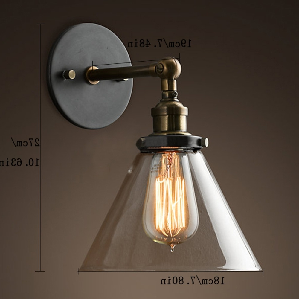 Loft Industrial Wall Sconce American Vintage Wall Lamp Retro Outdoor With Favorite Industrial Outdoor Wall Lighting (View 14 of 20)