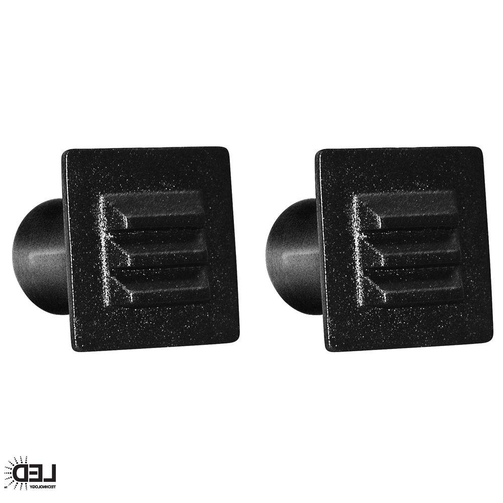 Low Voltage Deck Lighting At Home Depot Within Most Recently Released Hampton Bay Low Voltage Black Integrated Led Square Deck Light ( (View 8 of 20)