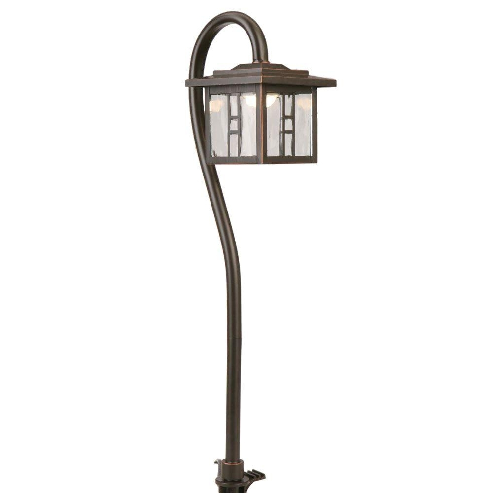 Low Voltage Outdoor Ceiling Lights Within Well Known Hampton Bay Low Voltage 10 Watt Equivalent Oil Rubbed Bronze Outdoor (View 16 of 20)
