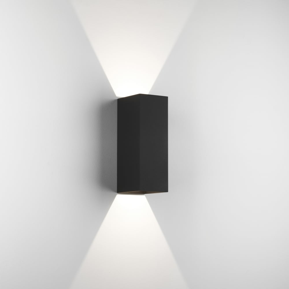 Low Voltage Outdoor Wall Lights With Regard To Well Liked Astro Oslo 225 Led Outdoor Wall Light Ip65 Black (View 15 of 20)