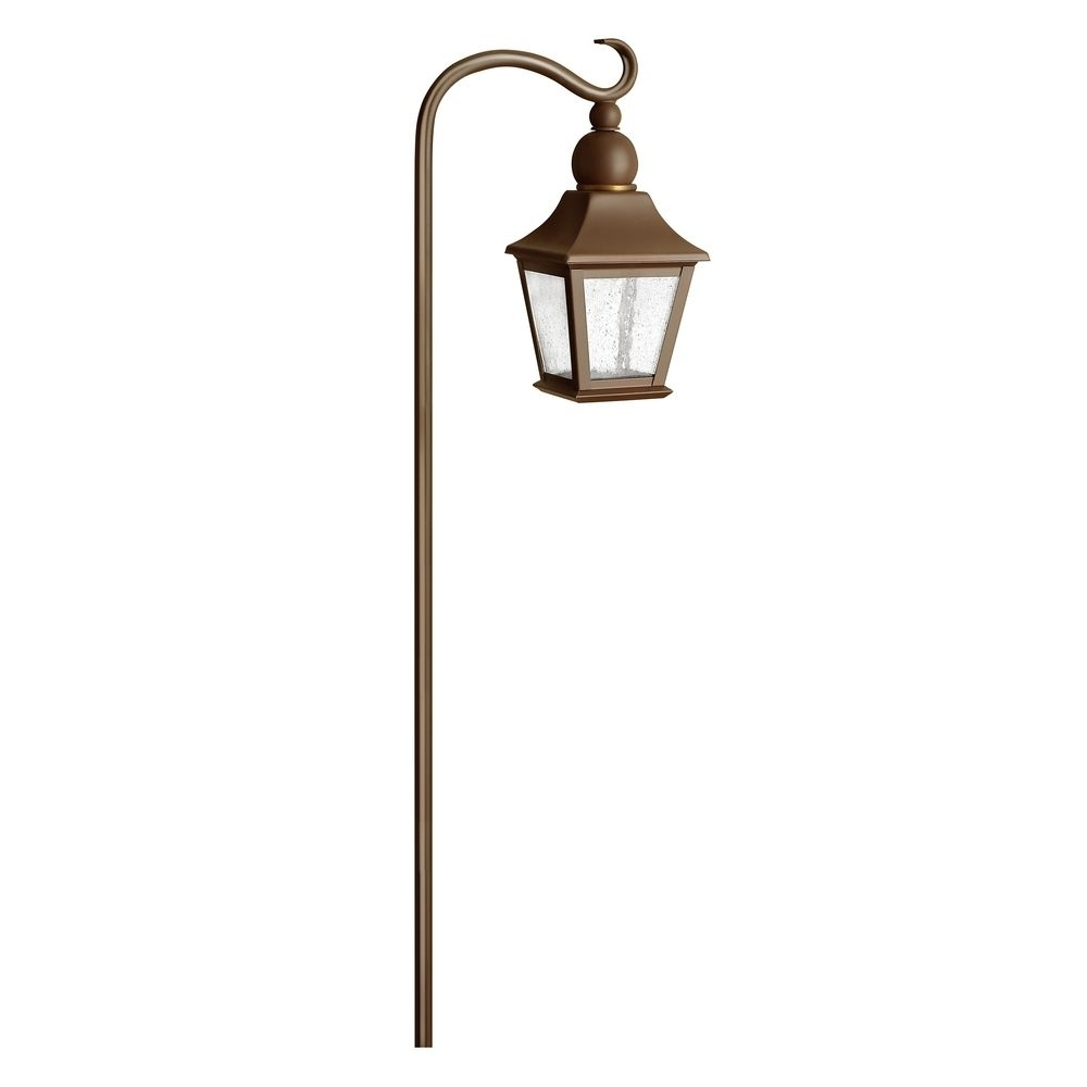 Low Voltage Seeded Glass Path Light Copper Bronze Hinkley Lighting For Most Recent Low Voltage Outdoor Hanging Lights (Gallery 7 of 20)