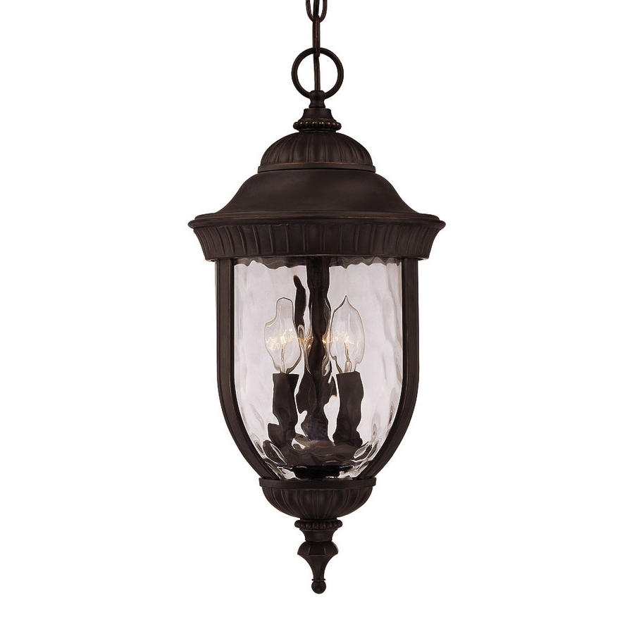 Lowes Outdoor Hanging Lighting Fixtures With Best And Newest Shop Farpoint  (View 8 of 20)