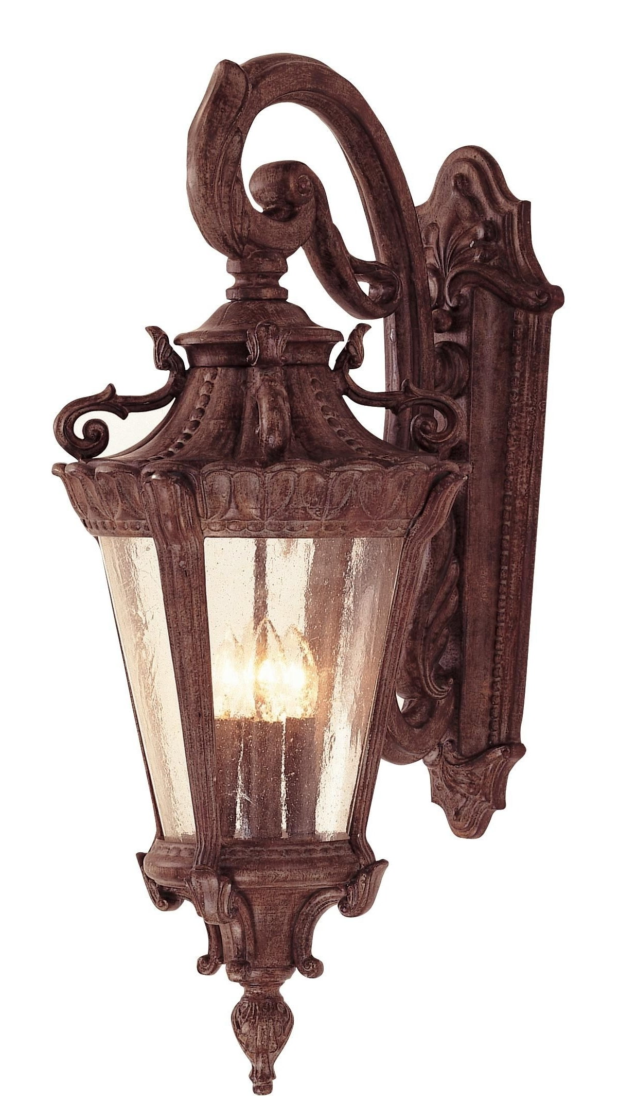 "Luzern Collection 28 1/2"" High Outdoor Down Wall Light – For An Old With Well Known Outdoor Wall Mounted Globe Lights (View 12 of 20)"
