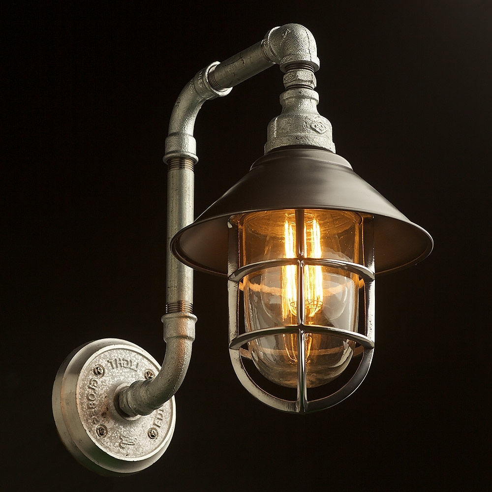 Made In Usa Outdoor Wall Lighting Inside Well Liked Plumbing Pipe Wall Shade Lamp (View 14 of 20)