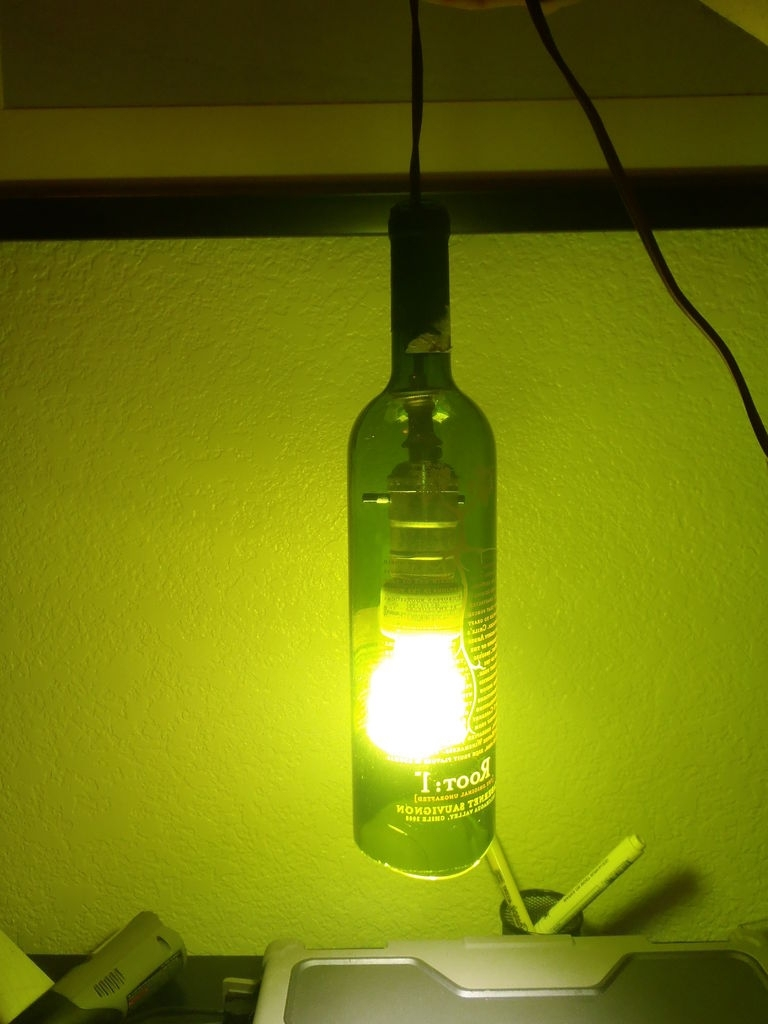 Make A Hanging Light Out Of A Wine Bottle Intended For 2018 Making Outdoor Hanging Lights From Wine Bottles (View 12 of 20)