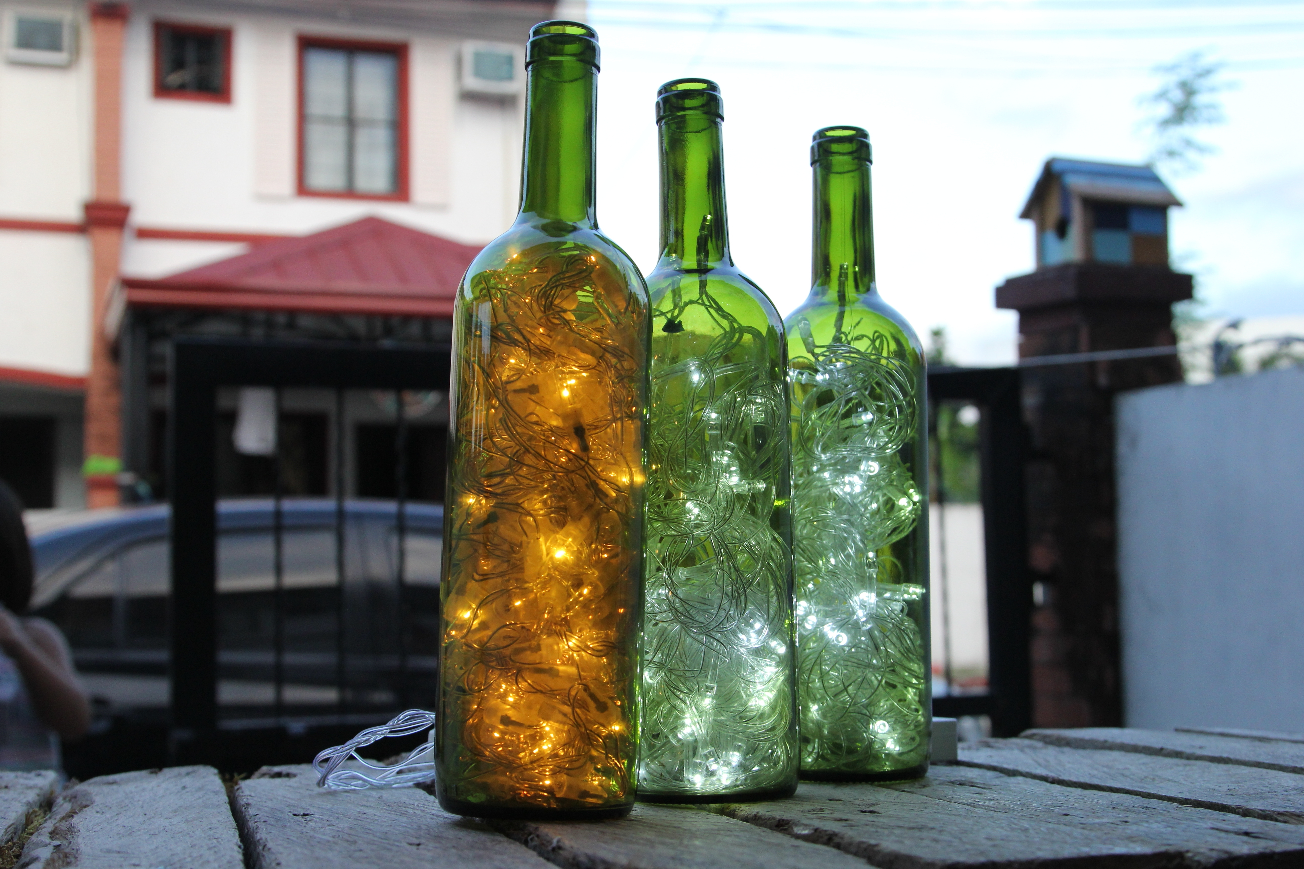 Making Outdoor Hanging Lights From Wine Bottles Intended For Latest How To Make Wine Bottle Accent Lights: 15 Steps (With Pictures) (View 15 of 20)