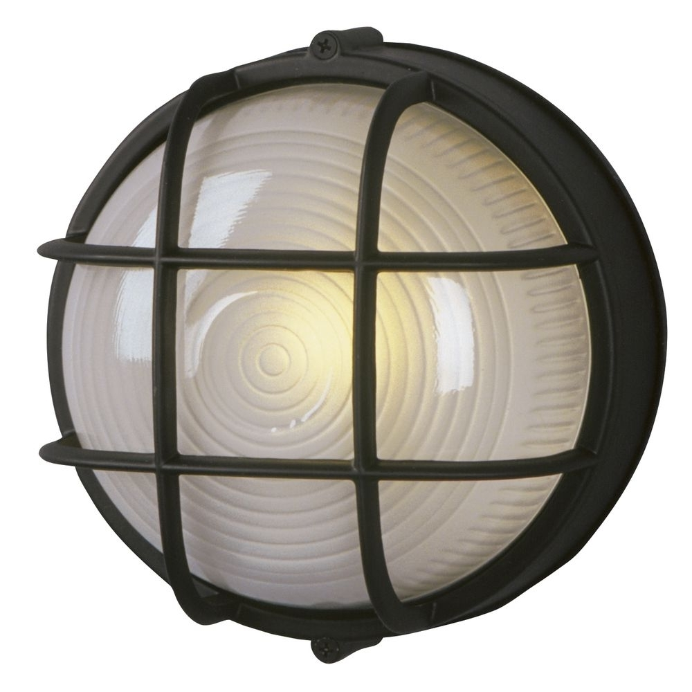 Marine Bulkhead Outdoor Wall Light In Black (View 8 of 20)
