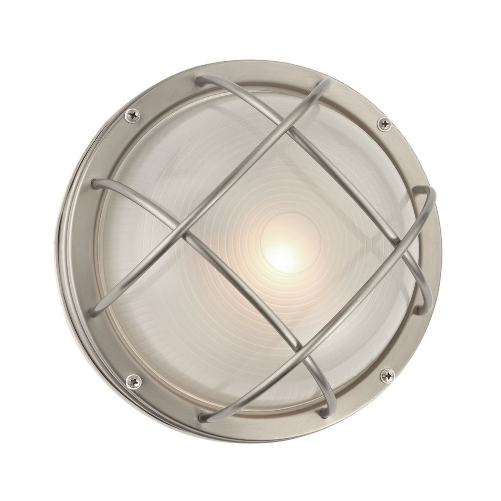 Marine Bulkhead Round Outdoor Wall / Ceiling Light – 10 Inches Wide Inside Most Current Coastal Outdoor Ceiling Lights (View 10 of 20)
