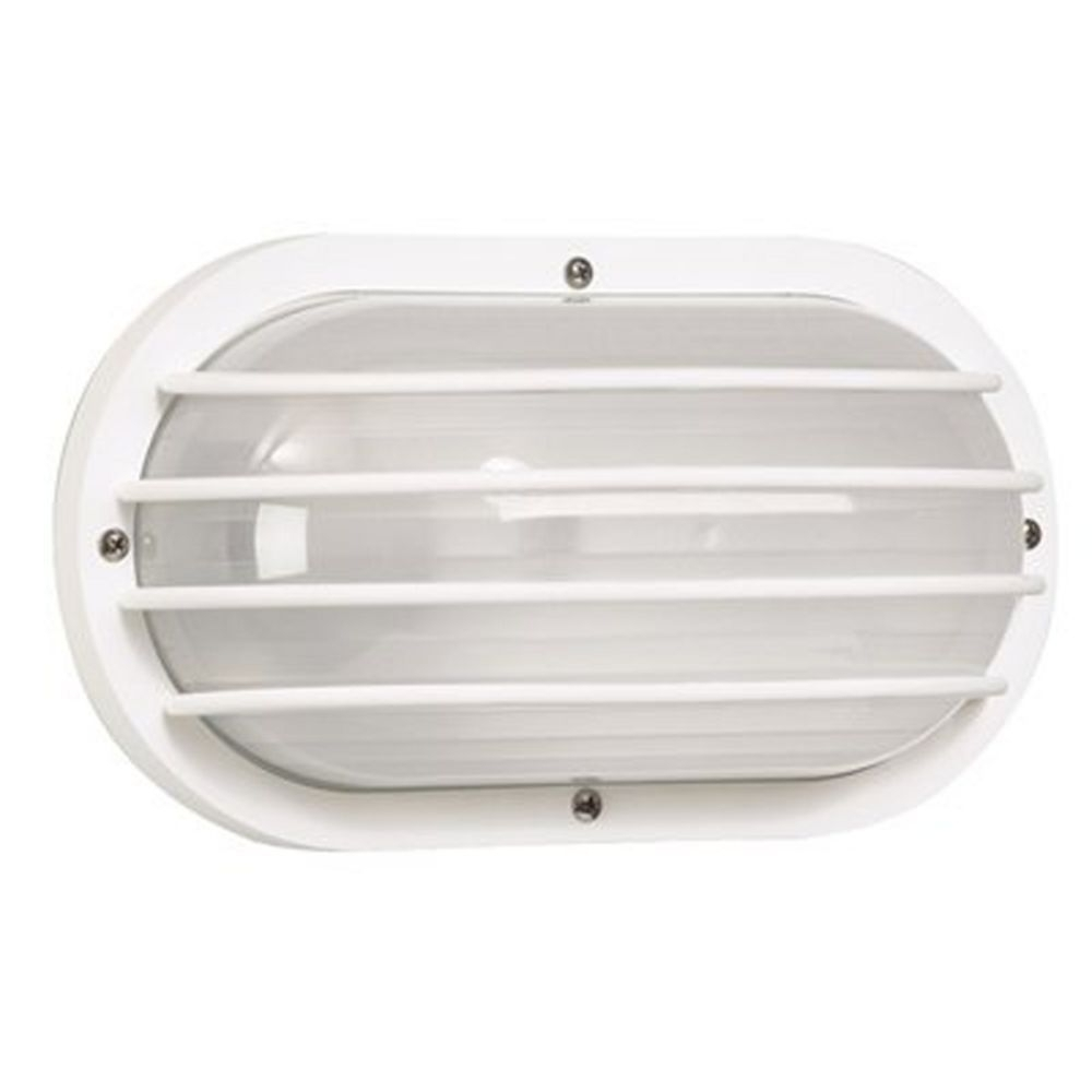 Marine Grade Outdoor Wall Lights Throughout Most Current White Oval Bulkhead Marine Outdoor Wall Light With Frosted Acrylic (View 11 of 20)