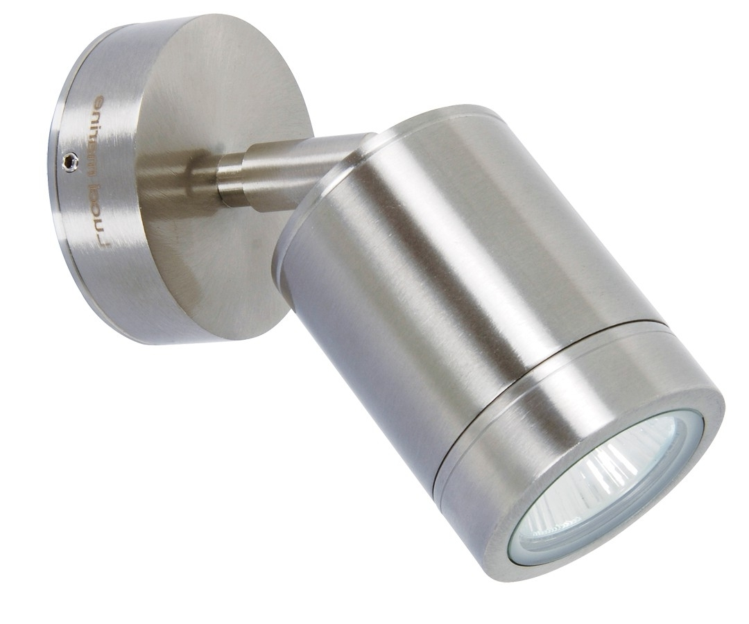 Marine Grade Outdoor Wall Lights With Well Known Lucci Marine Exterior Wall Spotlight In Marine Grade Stainless Steel (View 11 of 20)