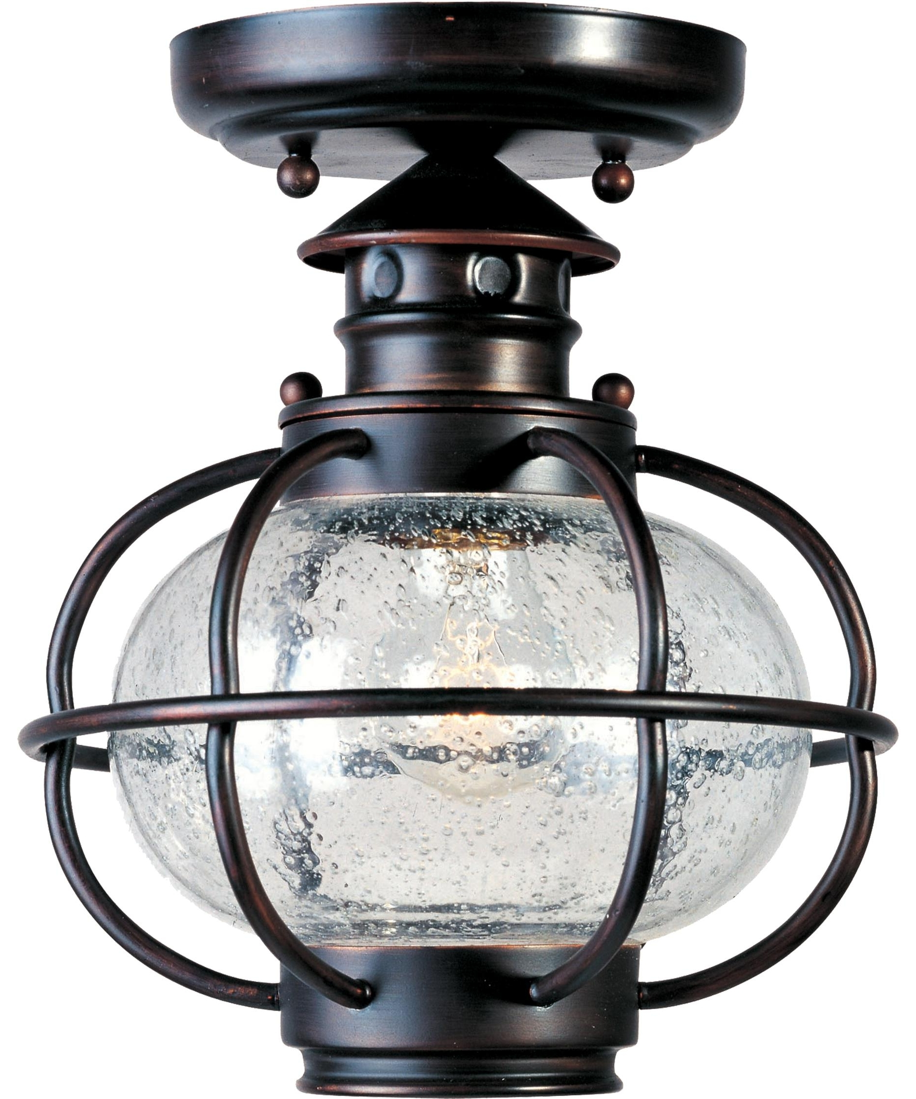 Maxim Lighting 30508 Portsmouth 8 Inch Wide 1 Light Outdoor Flush For Popular Bronze Outdoor Ceiling Lights (View 11 of 20)