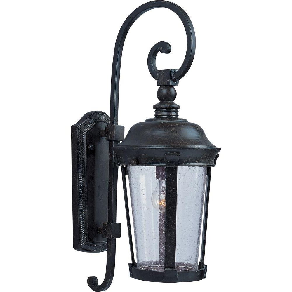 Maxim Lighting Dover Vx 1 Light Bronze Outdoor Wall Mount 40093Cdbz In Most Current Outdoor Wall Post Lights (View 6 of 20)