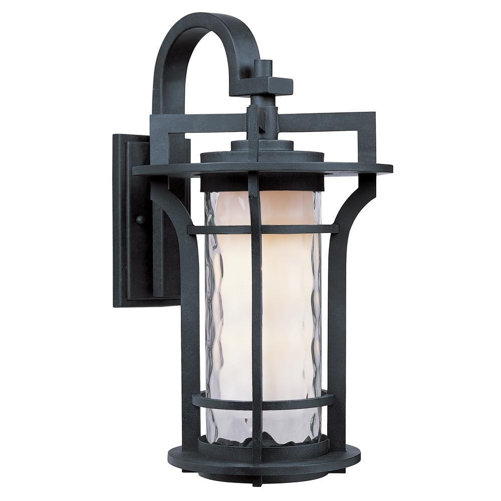 Maxim Lighting Oakville Ee 1 Light Black Oxide Outdoor Wall Sconce With Fashionable Outdoor Wall Lighting At Houzz (View 10 of 20)