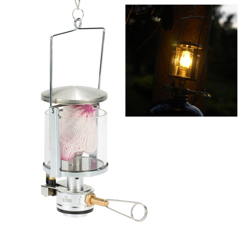 Mini Gas Lantern 60Lux 600W Outdoor Camping Tool Aluminum Light Tent In Preferred Outdoor Hanging Gas Lanterns (View 14 of 20)