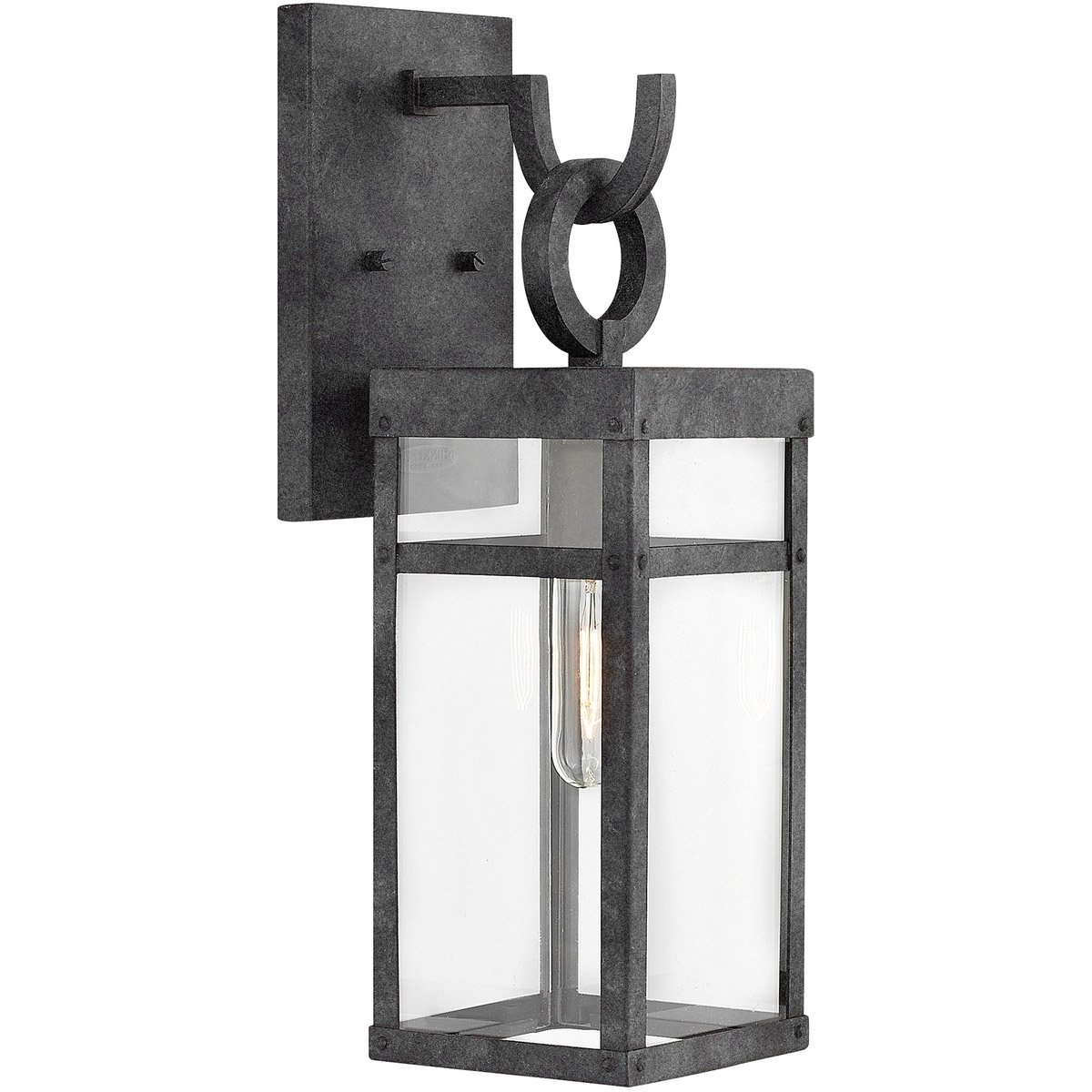 Mini Wall Mount Hinkley Lighting Within Current Hinkley Lighting 2800dz Porter 1 Light 19 Inch Aged Zinc Outdoor (View 9 of 20)