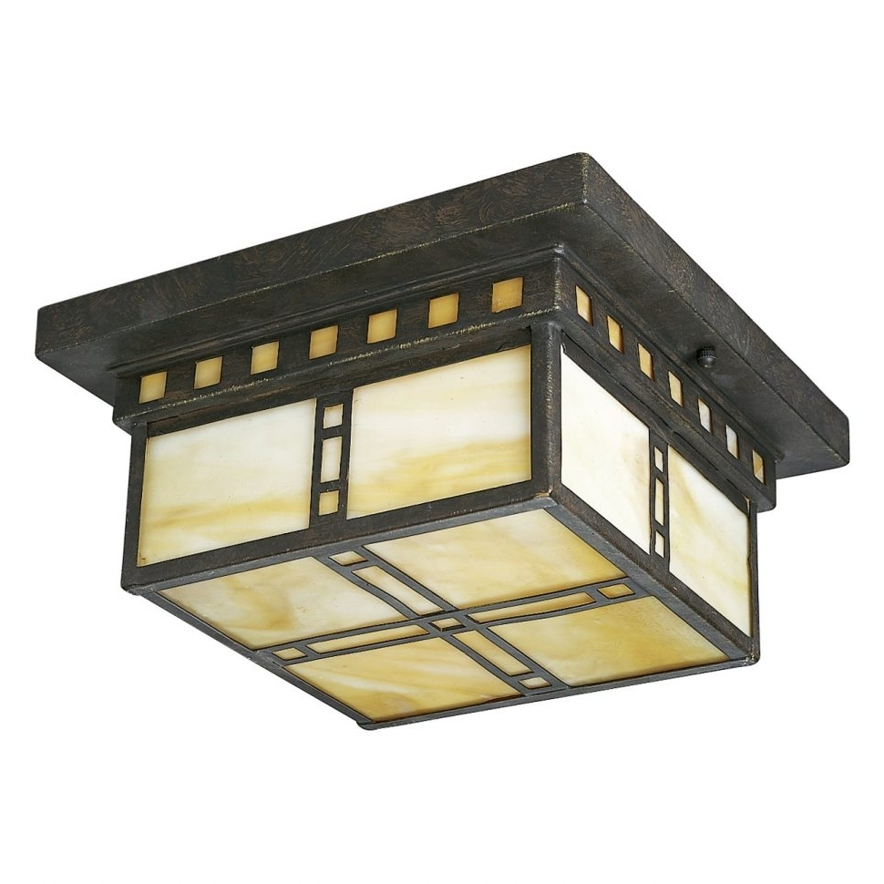 Mission Style Outdoor Ceiling Lights With Recent Decoration : Arts Crafts Lighting Mission Style Outdoor Light (View 11 of 20)