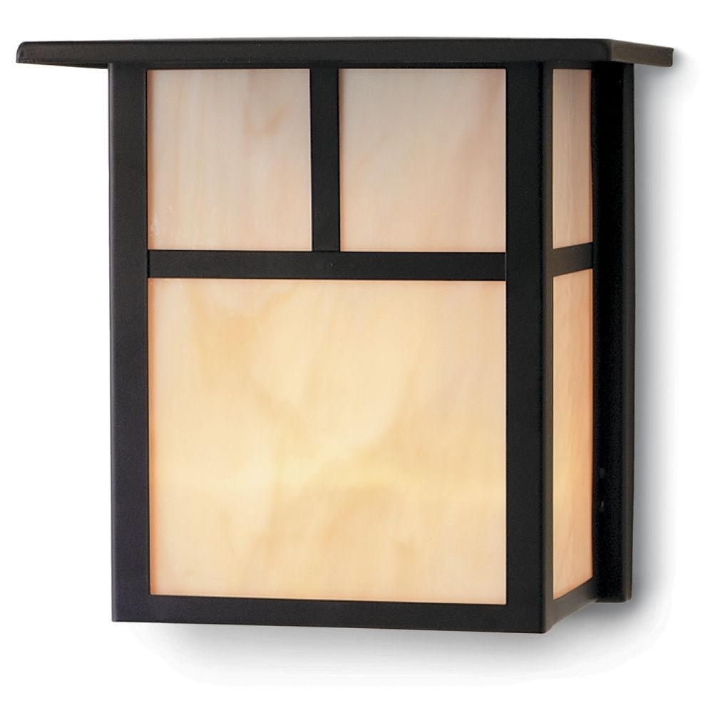 Mission Style Outdoor Wall Lighting Inside Most Recent Craftsman Style Outdoor Wall Light In Bronze 8 Inches Tall (View 10 of 20)