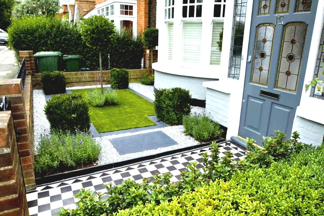 Modern Garden Landscape Lighting Intended For Most Popular Best Small Garden Designs For Gardens Gillette Interiors Front Yard (View 7 of 20)