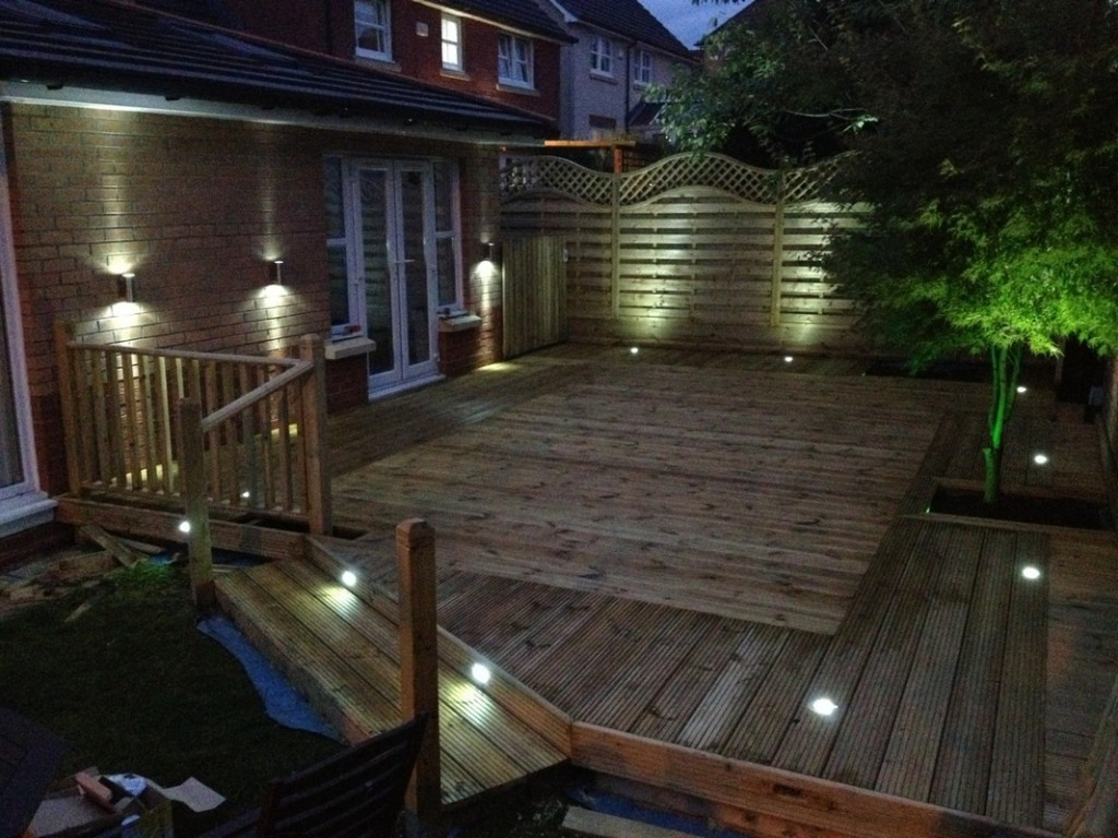 Modern Garden Low Voltage Deck Lighting Pertaining To Most Current Garden Ideas : Deck Lighting Ideas Solar Some Tips To Get The Best (View 10 of 20)