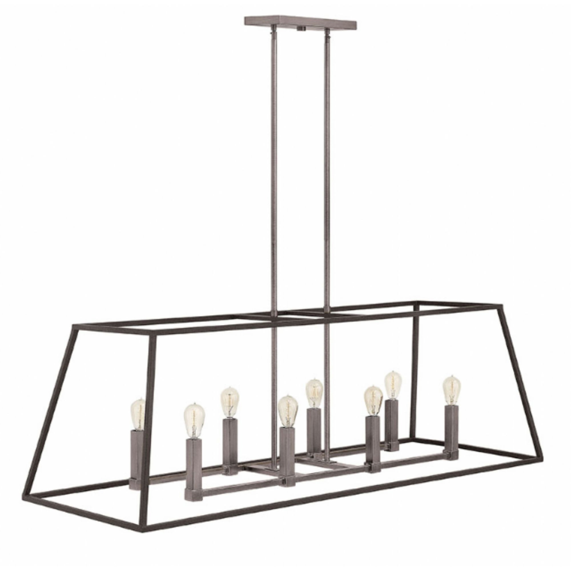 Modern Latern Hinkley Lighting With Regard To Fashionable Furniture Idea: Tempting Linear Chandelier & Double Chandelier (View 11 of 20)