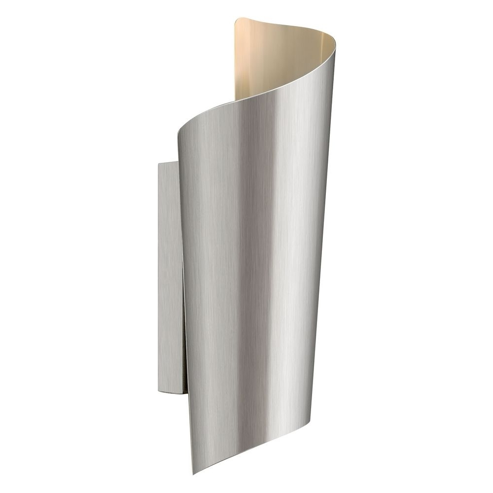 Modern Led Outdoor Wall Light In Stainless Steel Finish (View 11 of 20)