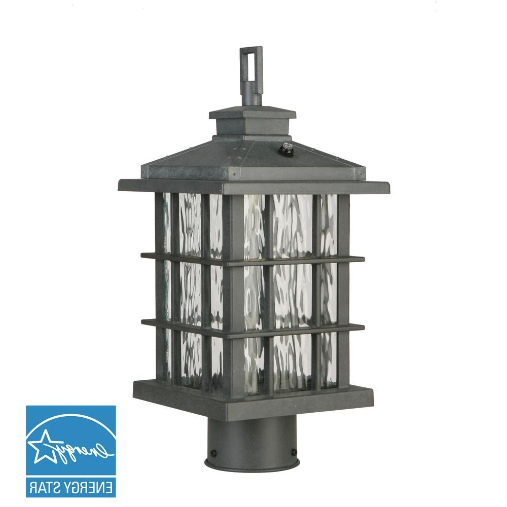 Modern Led Post Lights At Home Depot Throughout Most Up To Date Home Decorators Collection Summit Ridge Collection Zinc Outdoor (View 16 of 20)
