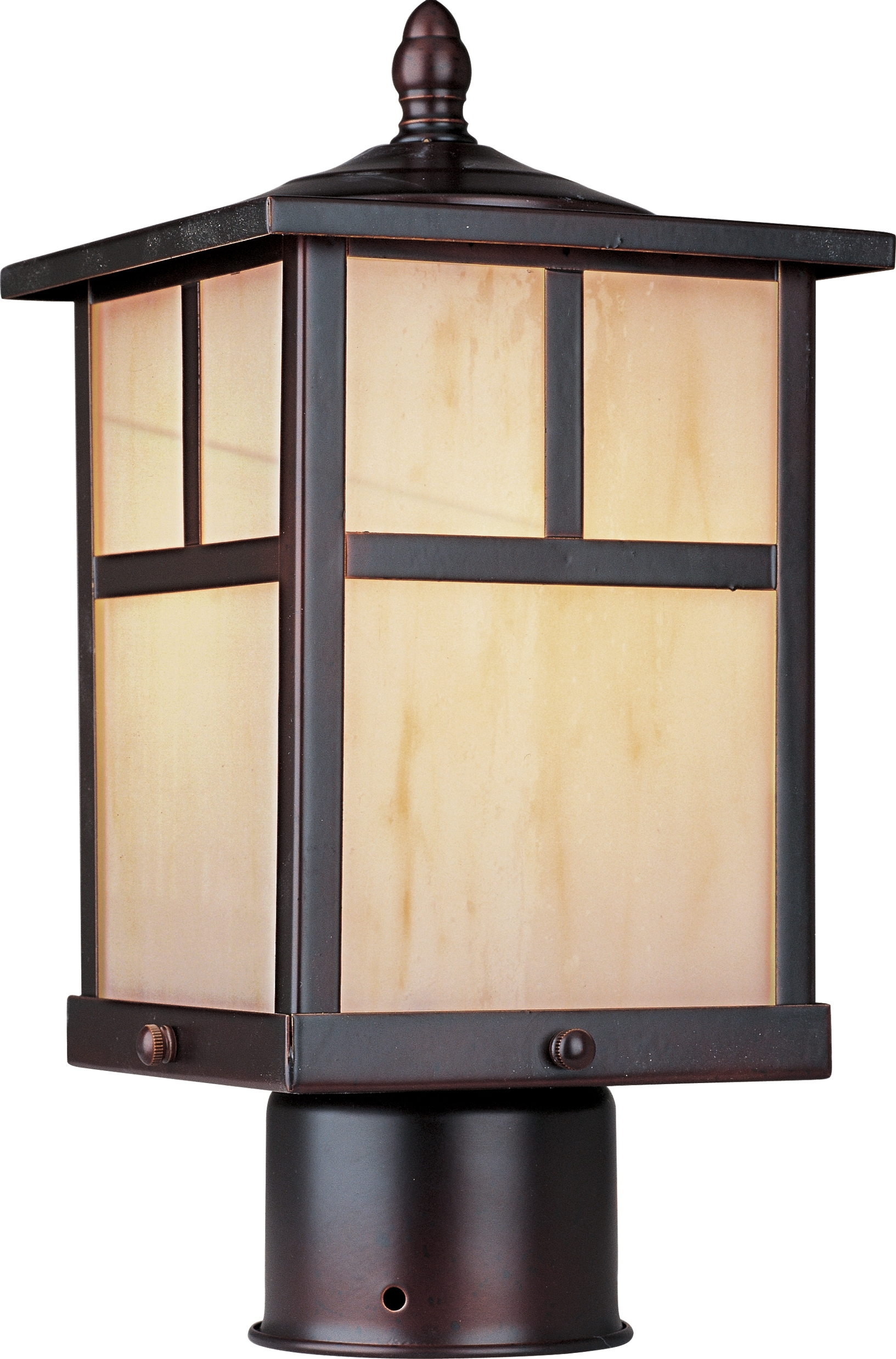 Modern Led Post Lights At  Home Depot Within Most Recent Coldwater Led 1 Light Outdoor Pole/post Lantern – Outdoor Pole/post (View 11 of 20)