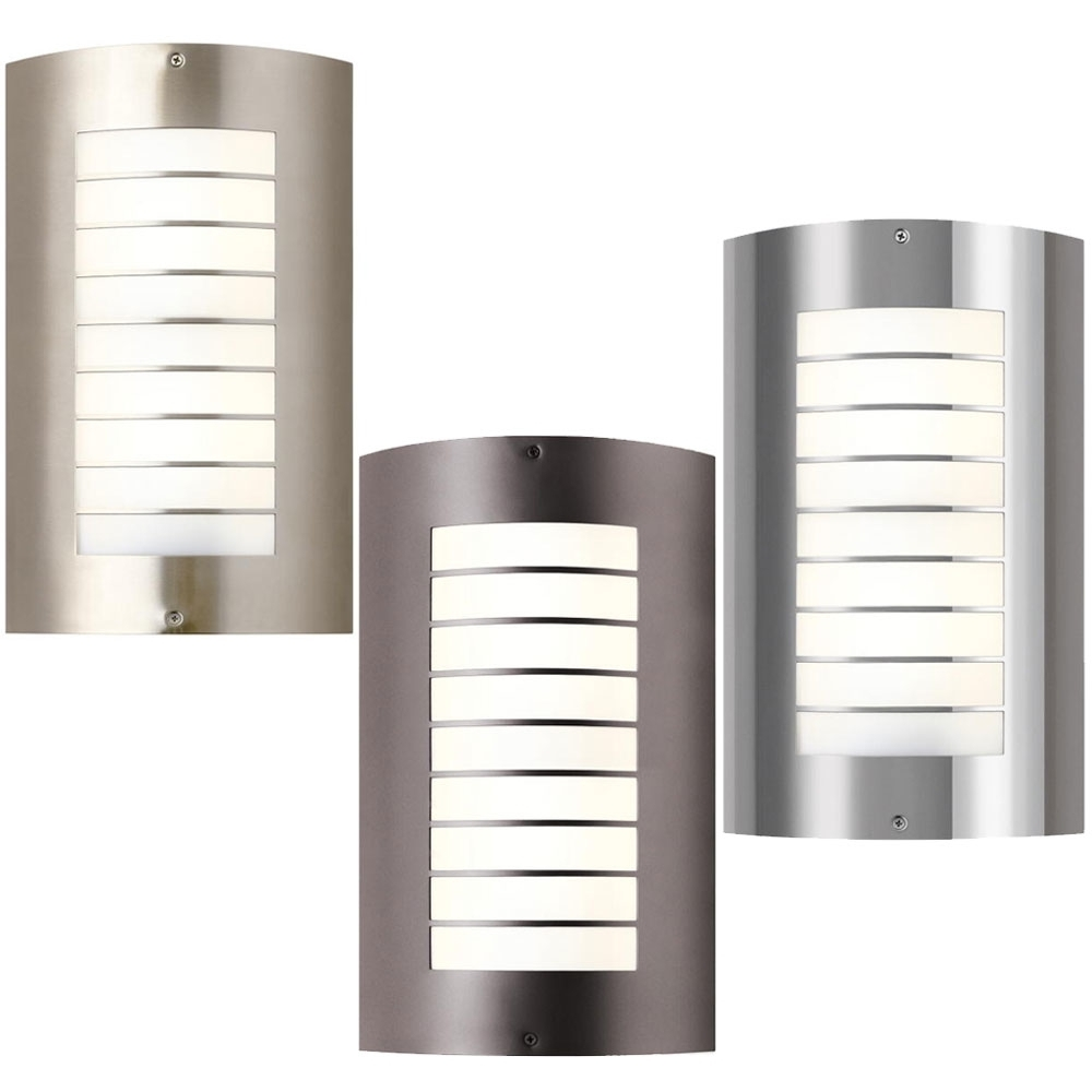 Modern Outdoor Led Wall Sconces • Wall Sconces Intended For Widely Used Contemporary Outdoor Lighting Sconces (View 12 of 20)