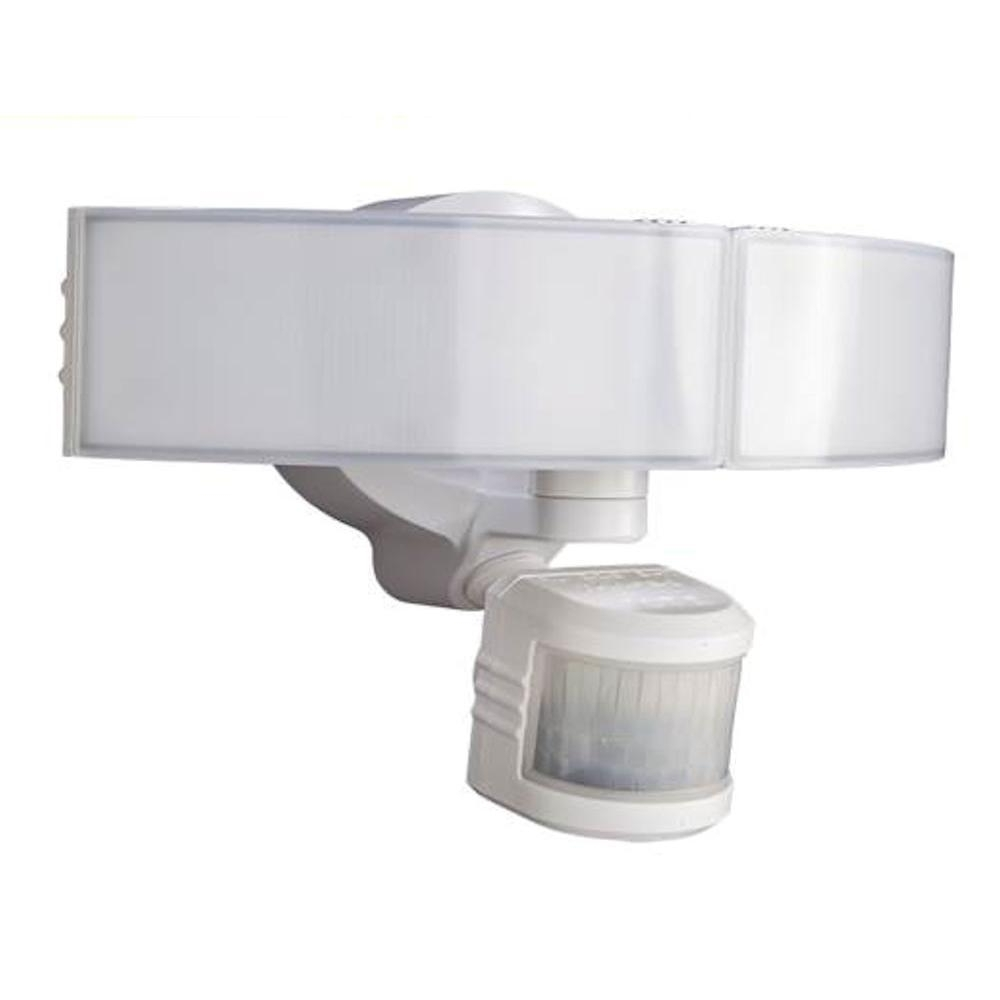 Modern Outdoor Light Fixtures At Home Depot Regarding Current Defiant 270 Degree White Led Bluetooth Motion Outdoor Security Light (View 9 of 20)