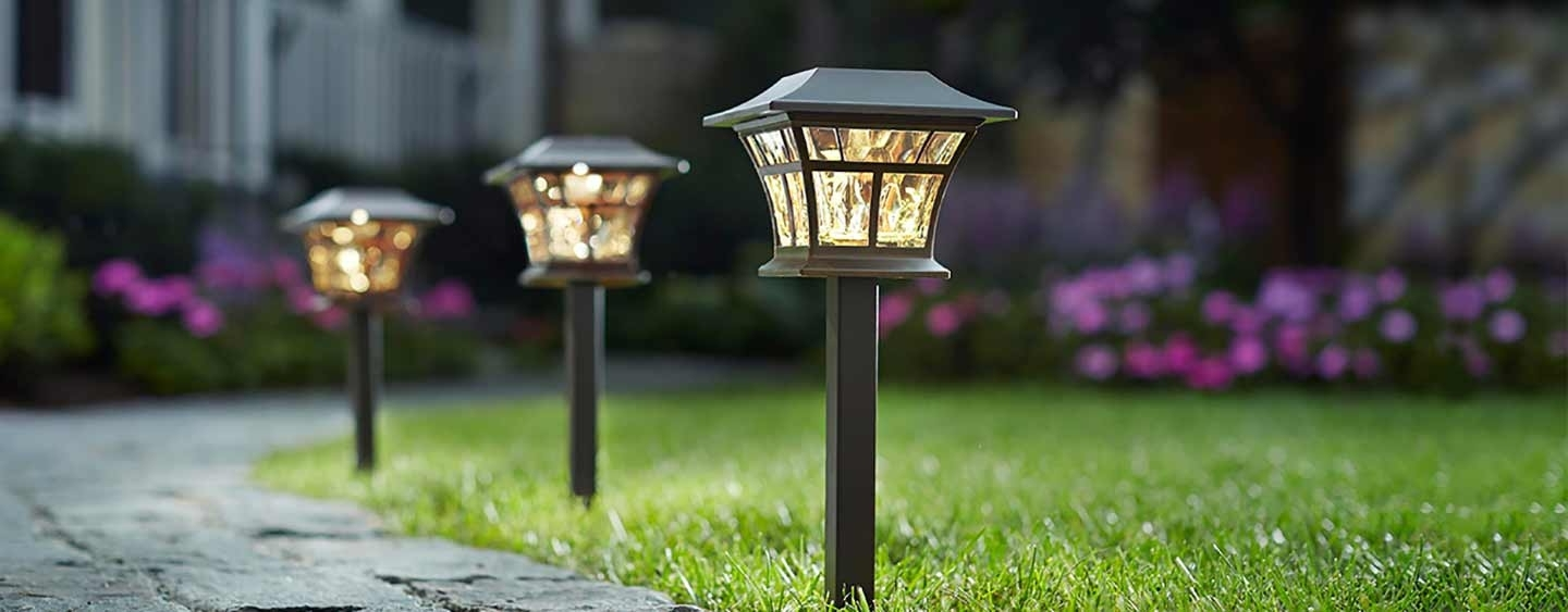 Modern Outdoor Light Fixtures At Home Depot With Regard To Widely Used Lighting: Stone Pavers Walkway With Outdoor Lighting Fixtures And (View 14 of 20)