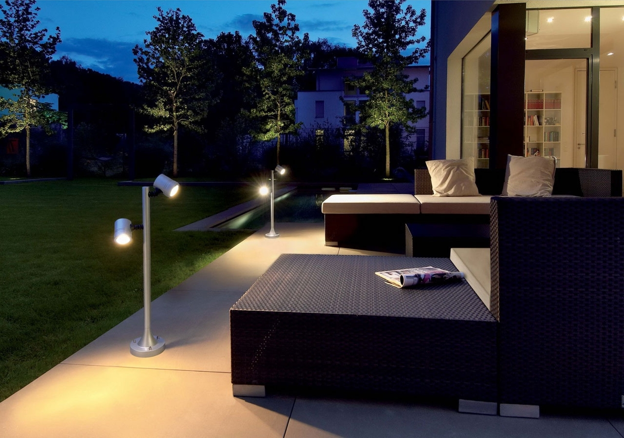Modern Outdoor Lighting With Regard To Most Current Astonishing Modern Outdoor Lighting With Unusual Lighting On Floor (View 11 of 20)
