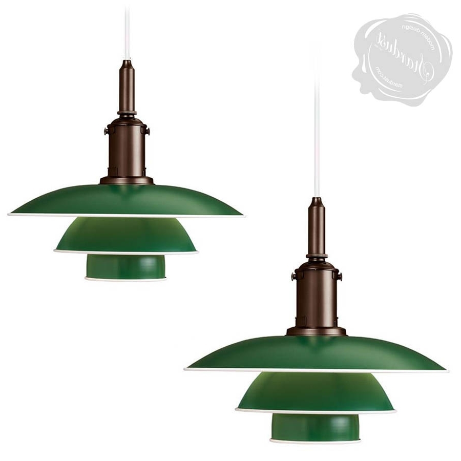 Modern Outdoor Pendant Lighting Inside Well Liked Louis Poulsen Ph 3 1/2 3 Danish Mid Century Modern Pendant Light (View 18 of 20)