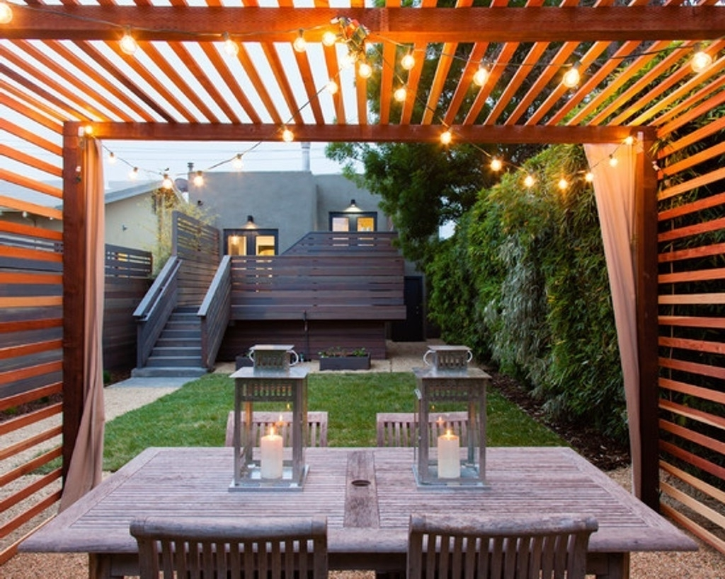 Modern Outdoor String Lights Regarding Well Liked Modern Home Ideas With Perfect Outdoor String Lights For Stylish (View 13 of 20)