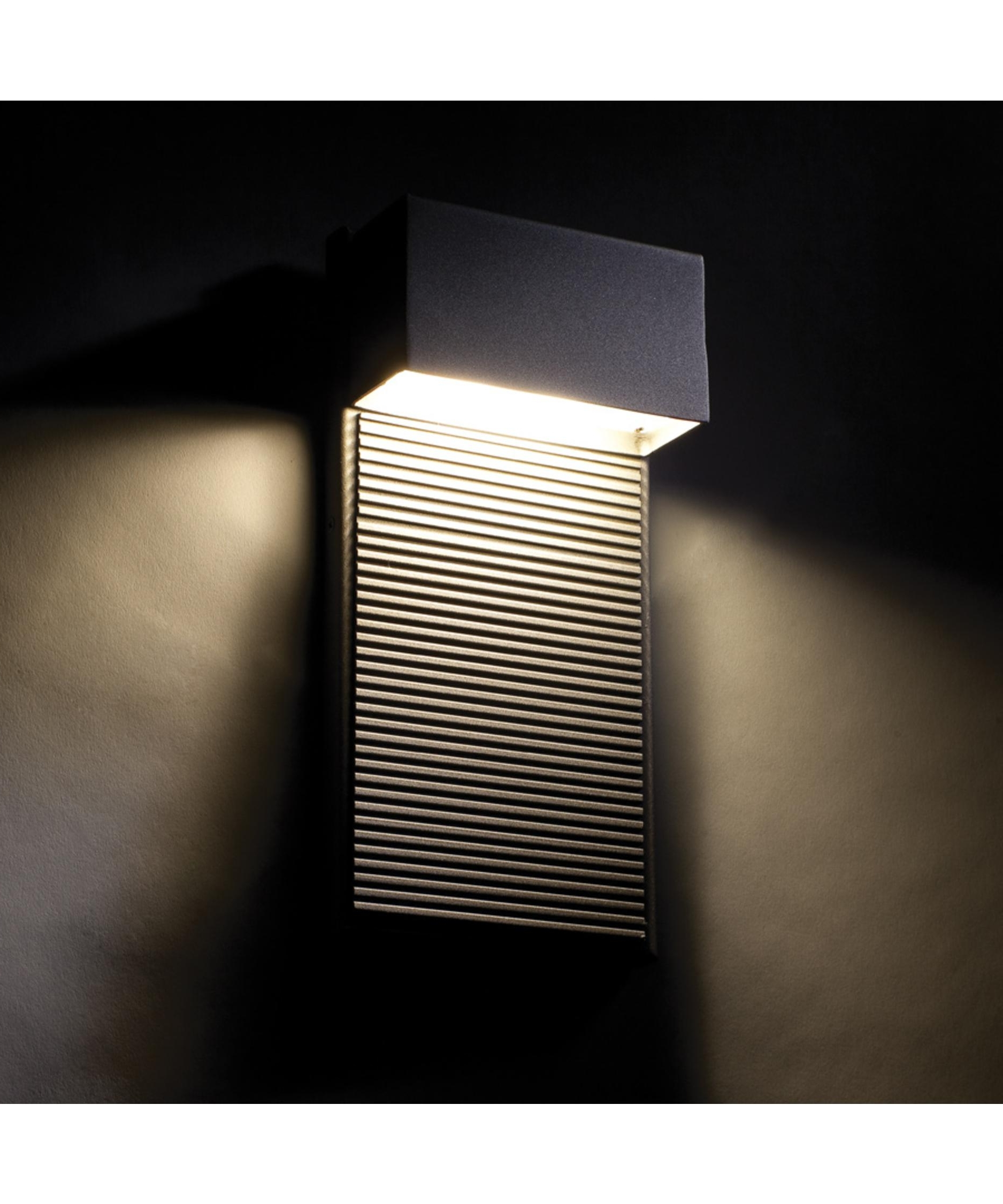 Modern Outdoor Wall Lighting Within Favorite Modern Forms Ws W2308 Hiline 5 Inch Wide 2 Light Outdoor Wall Light (View 4 of 20)
