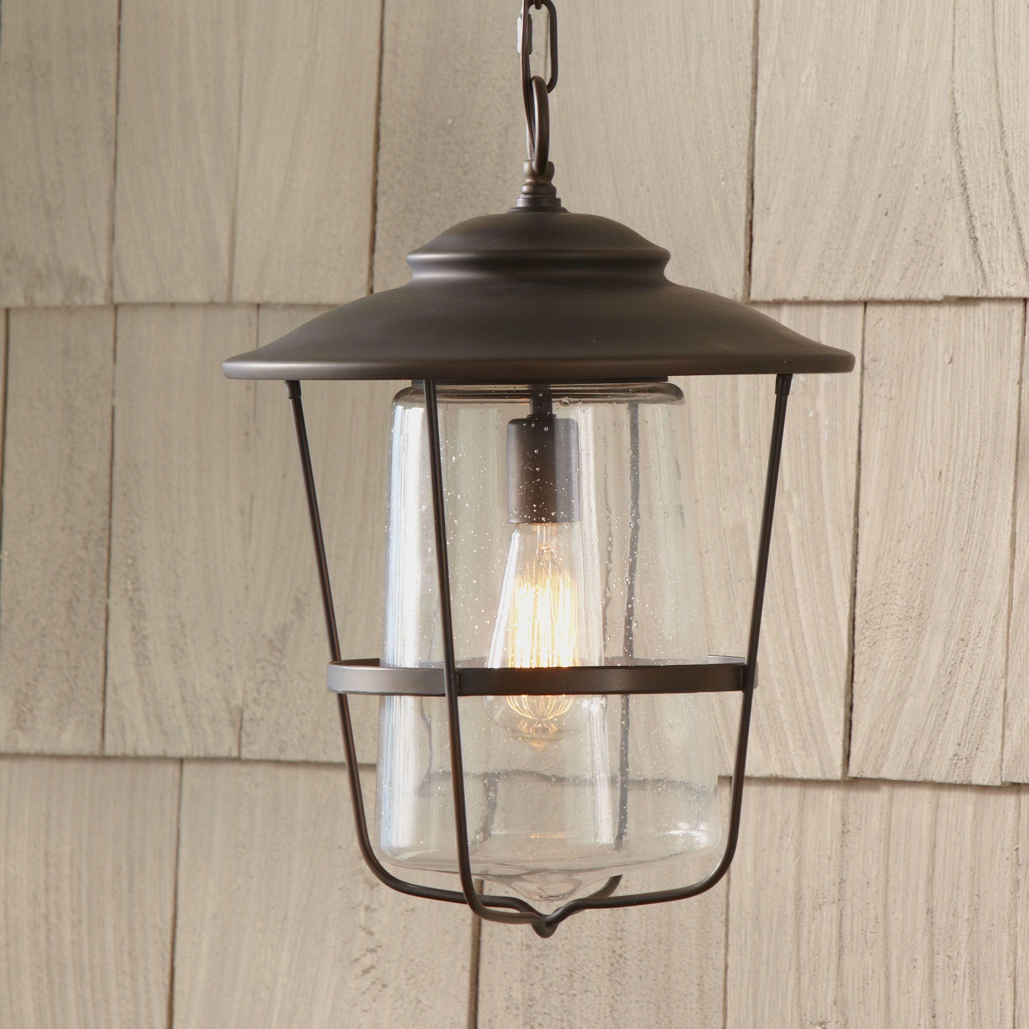 Modern Rustic Outdoor Lighting Att Wayfair For Current Outdoor Hanging Lights Wayfair Remington Lantern ~ Loversiq (Gallery 2 of 20)