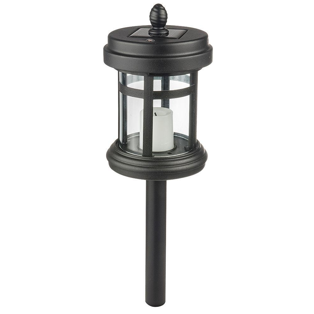 Modern Solar Driveway Lights At Home Depot In 2018 Hampton Bay Solar Black Outdoor Integrated Led Cast Aluminum (View 6 of 20)