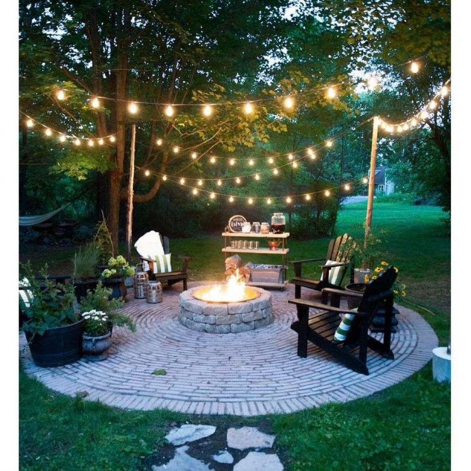 Modern Solar Driveway Lights At Target For Widely Used Lighting : Dreamy Ways To Use Outdoor String Lights In Your Backyard (View 9 of 20)