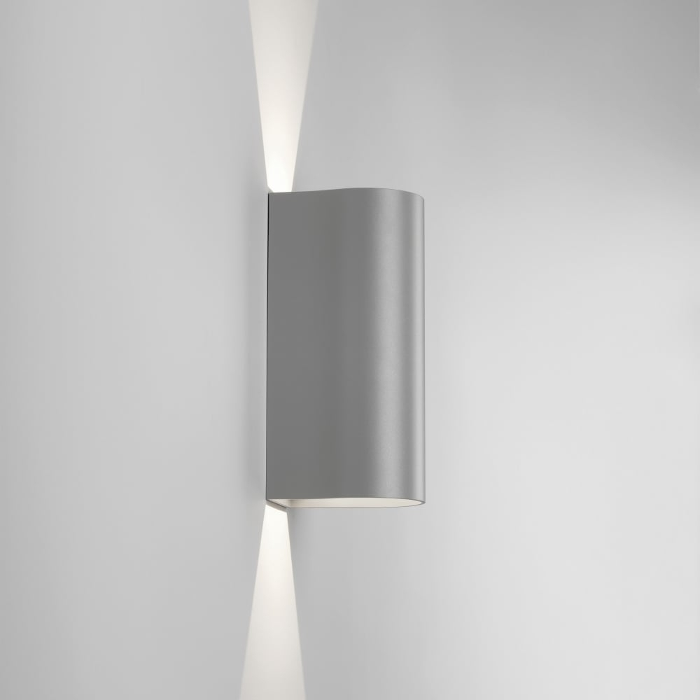 Most Current Astro 7993 Dunbar 255 Outdoor Led Up & Down Wall Light In Silver Throughout Ip65 Outdoor Wall Lights (View 10 of 20)
