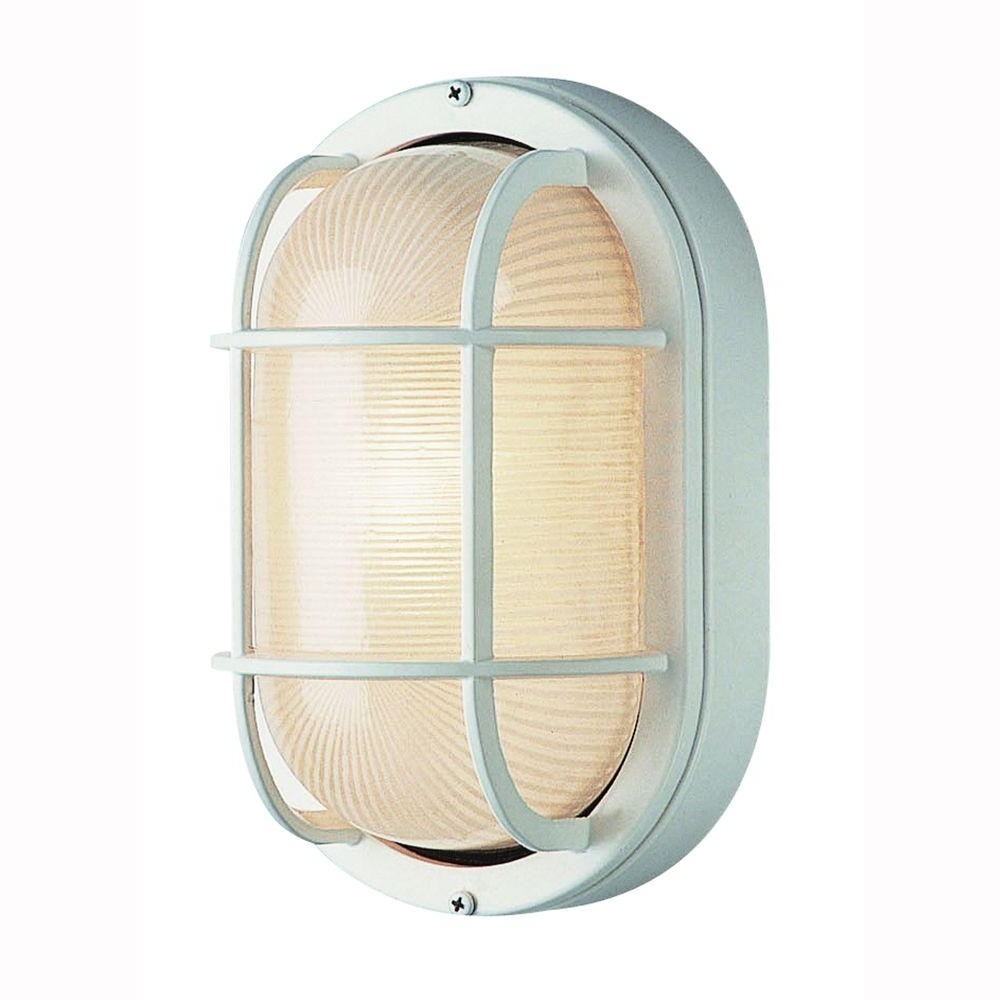 Most Current Bel Air Lighting Bulkhead 1 Light Outdoor White Wall Or Ceiling Intended For Outdoor Wall Ceiling Lighting (View 8 of 20)