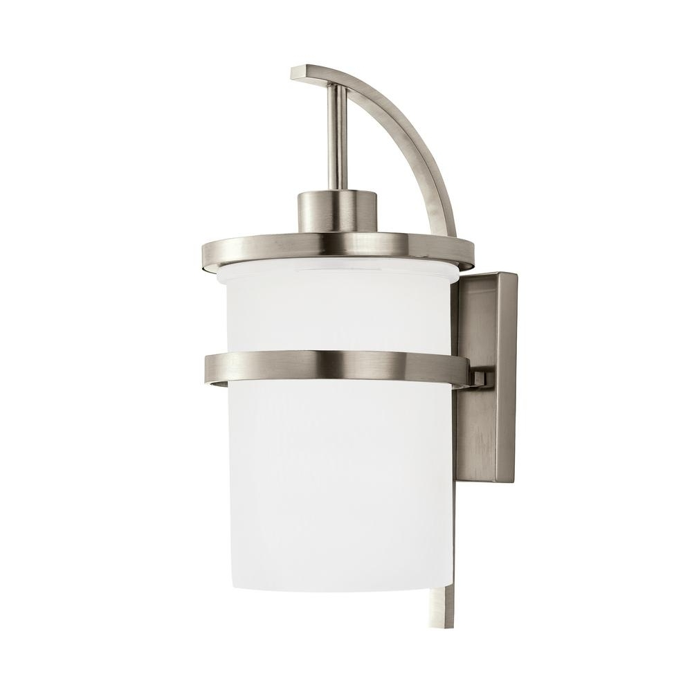 Most Current Brushed Nickel Outdoor Ceiling Lights With Regard To Light : Wall Mount Light Fixtures Kitchen Walmart Led Lowes Indoor (View 9 of 20)