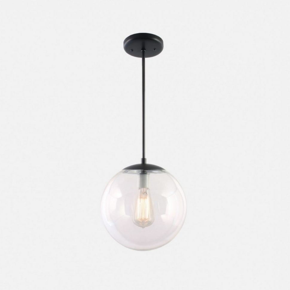 Most Current Deco Lamp : Clear Pendant Light Hanging Sphere Lights Globe Glass Inside Outdoor Hanging Sphere Lights (View 7 of 20)