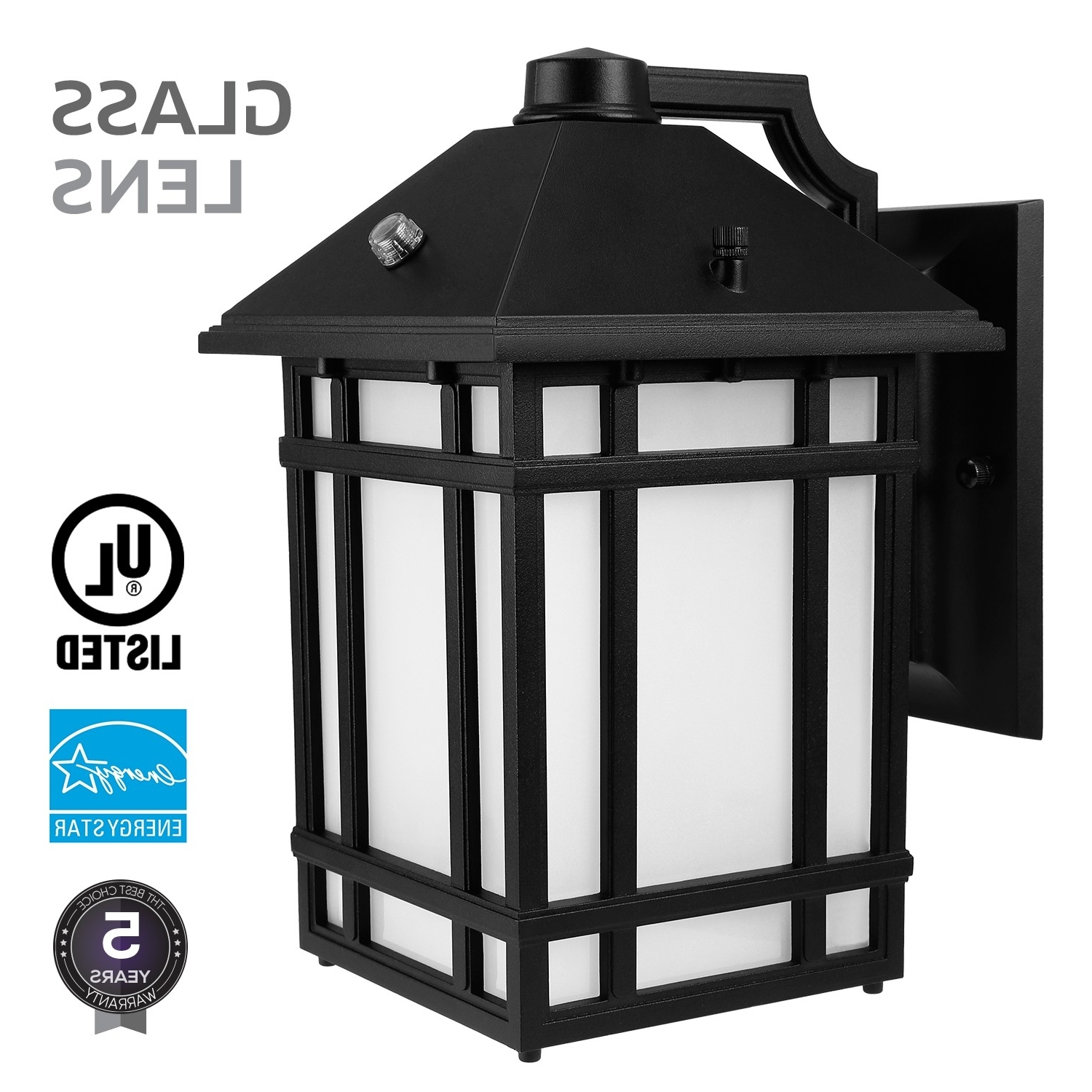 Most Current Dusk To Dawn Led Outdoor Wall Lights In Led Outdoor Wall Lantern With Dusk To Dawn Photocell, 23w (130w (View 10 of 20)