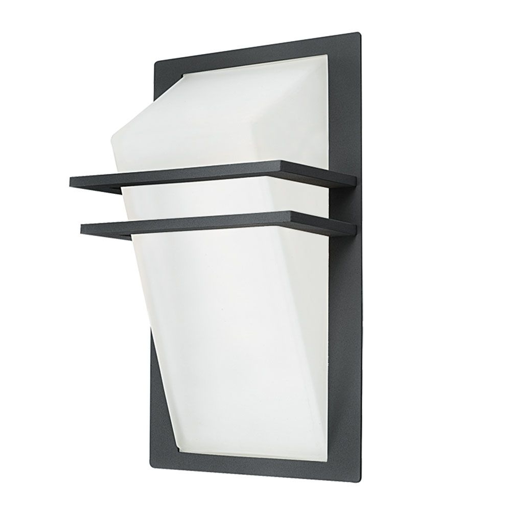 Most Current Eglo 83433 Park Decorative Anthracite Half Lantern Wall Light Within 200Mm Eglo Riga Outdoor Led Wall Lighting (View 13 of 20)
