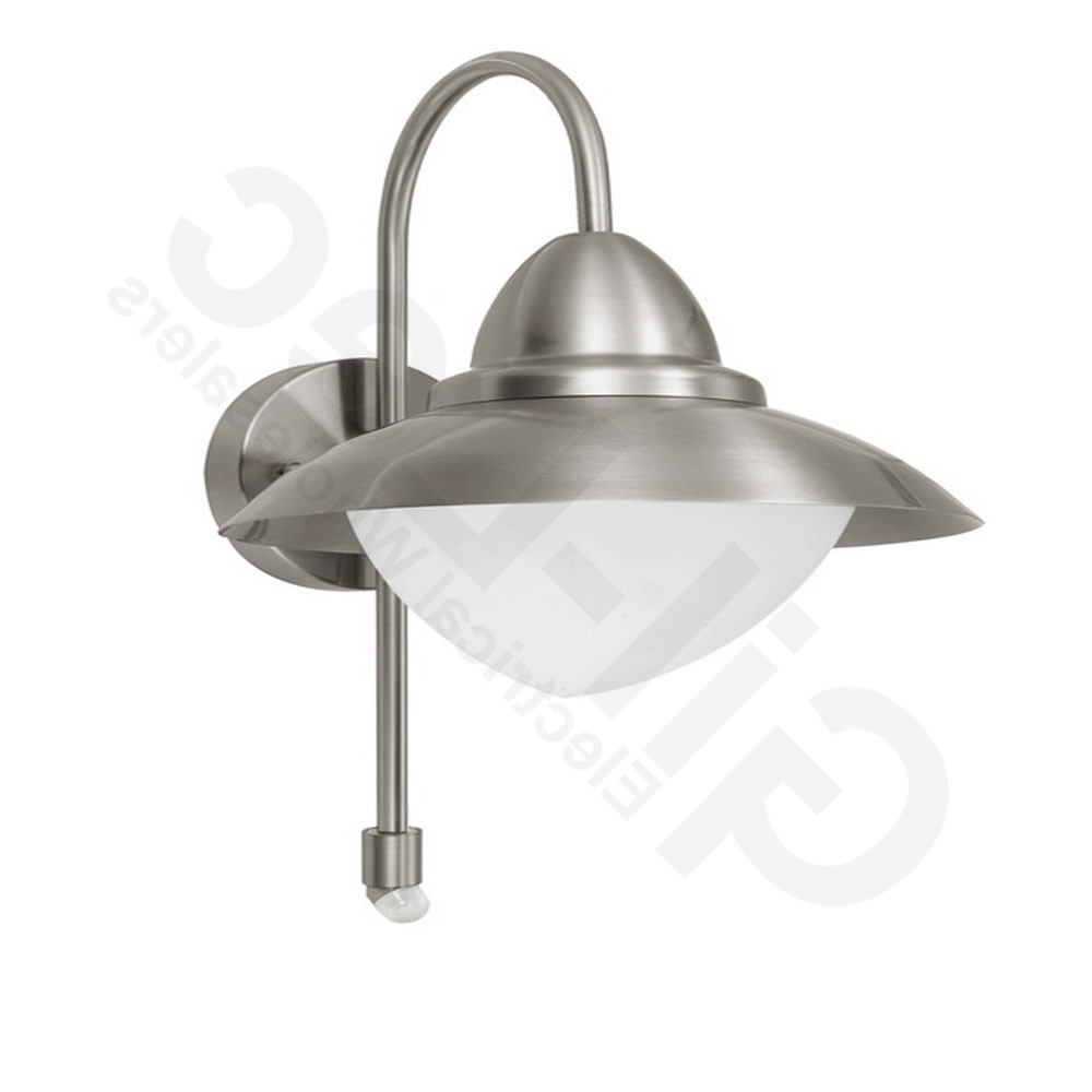 Most Current Eglo 87105 Sidney Stainless Steel Pir Wall Light With Eglo Lighting Sidney Outdoor Wall Lights With Motion Sensor (View 13 of 20)