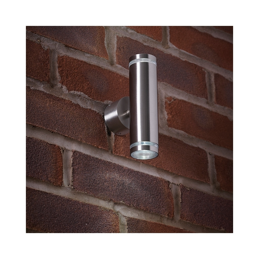 Most Current Endon Lighting Outdoor Wall Lanterns Intended For Endon El 40080 Outdoor Led Stainless Steel Up & Down Wall Light (View 18 of 20)