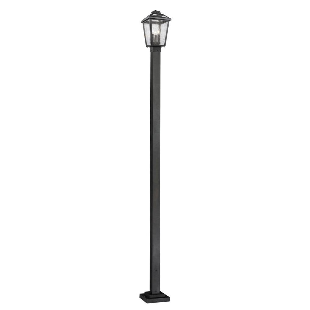 Most Current Filament Design Wilkins 3 Light Black Modern Outdoor Post Light With Within Modern Outdoor Post Lighting (View 19 of 20)