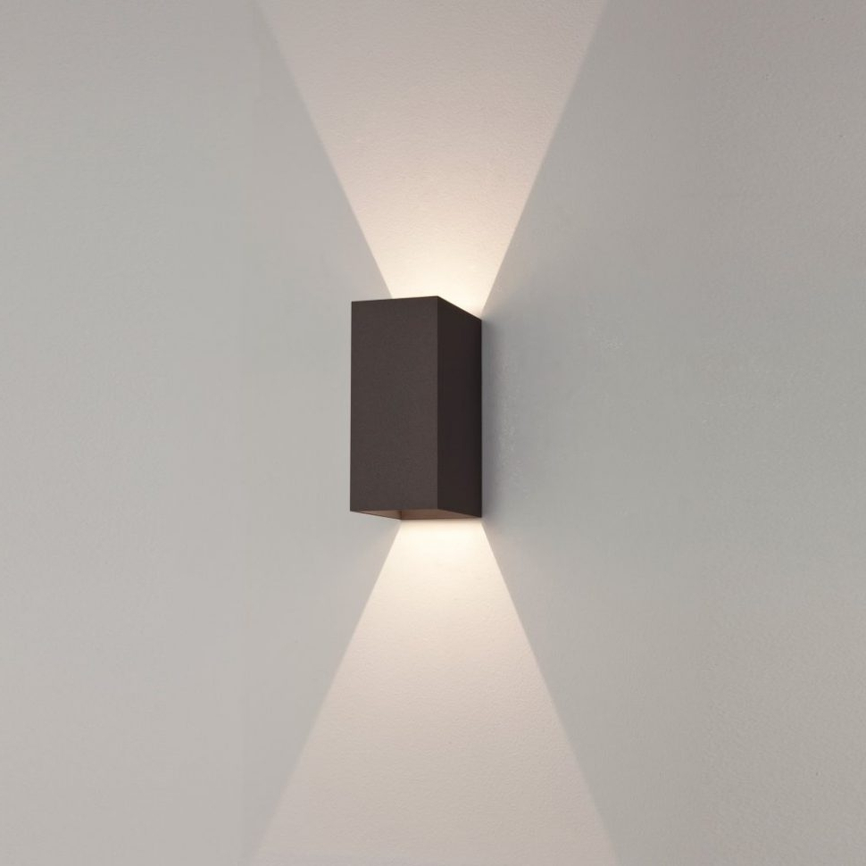 Most Current Furniture : Astro Oslo Black Exterior Led Wall Light Outdoor With Intended For Outdoor Led Wall Lights For House Sign With Door Number (View 3 of 20)