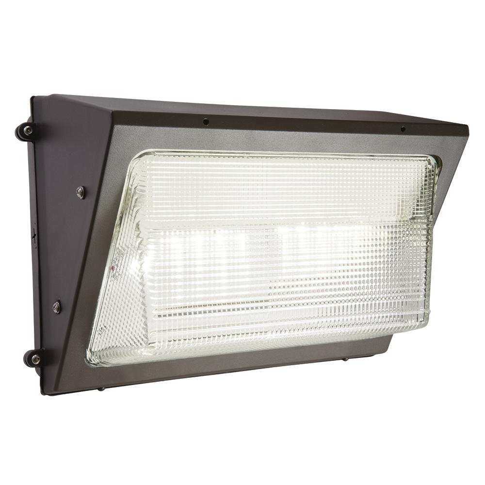 Most Current Halo Bronze Outdoor Integrated Led Wall Pack And Area Security Light For Outdoor Wall Pack Lighting (View 11 of 20)